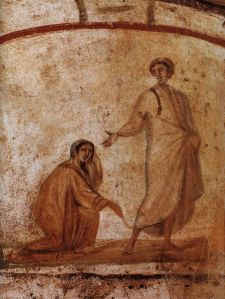 Healing_of_a_bleeding_women_Marcellinus-Peter-Catacomb