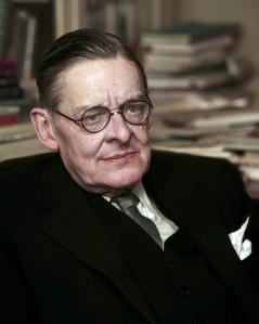 American poet T.S. Eliot is shown seated in his London Office on Jan. 19, 1956. (AP Photo)