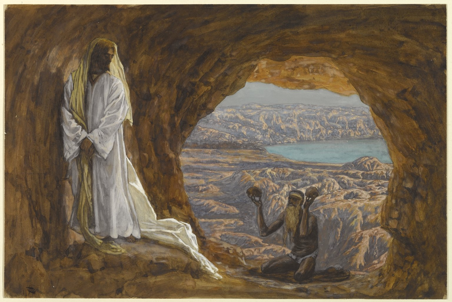 Jesus Tempted in the Wilderness, James Tissot, Brooklyn Museum