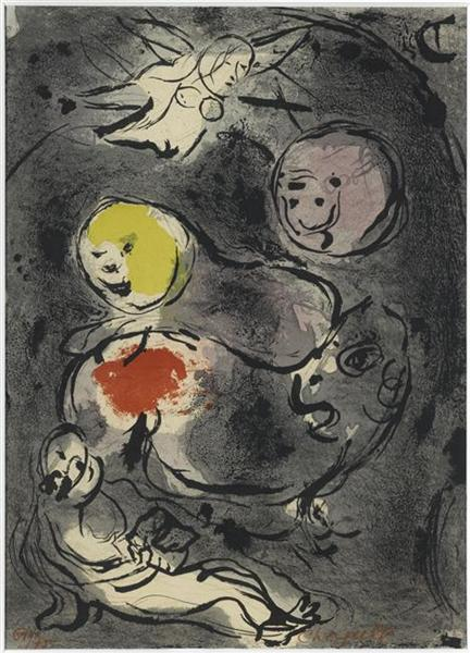 Marc Chagall - Daniel with Lions