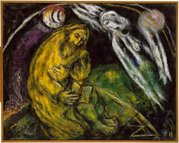 Marc Chagall - The Prophet Jeremiah
