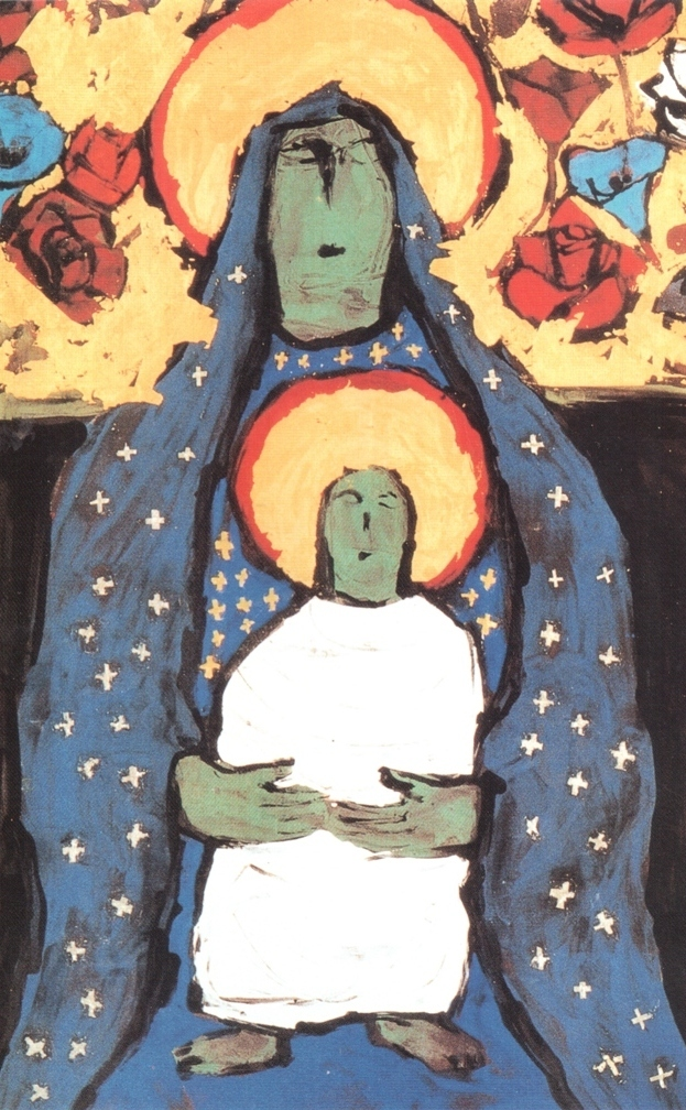 Yasuo Ueno The Blue Madonna detail 1997(1)