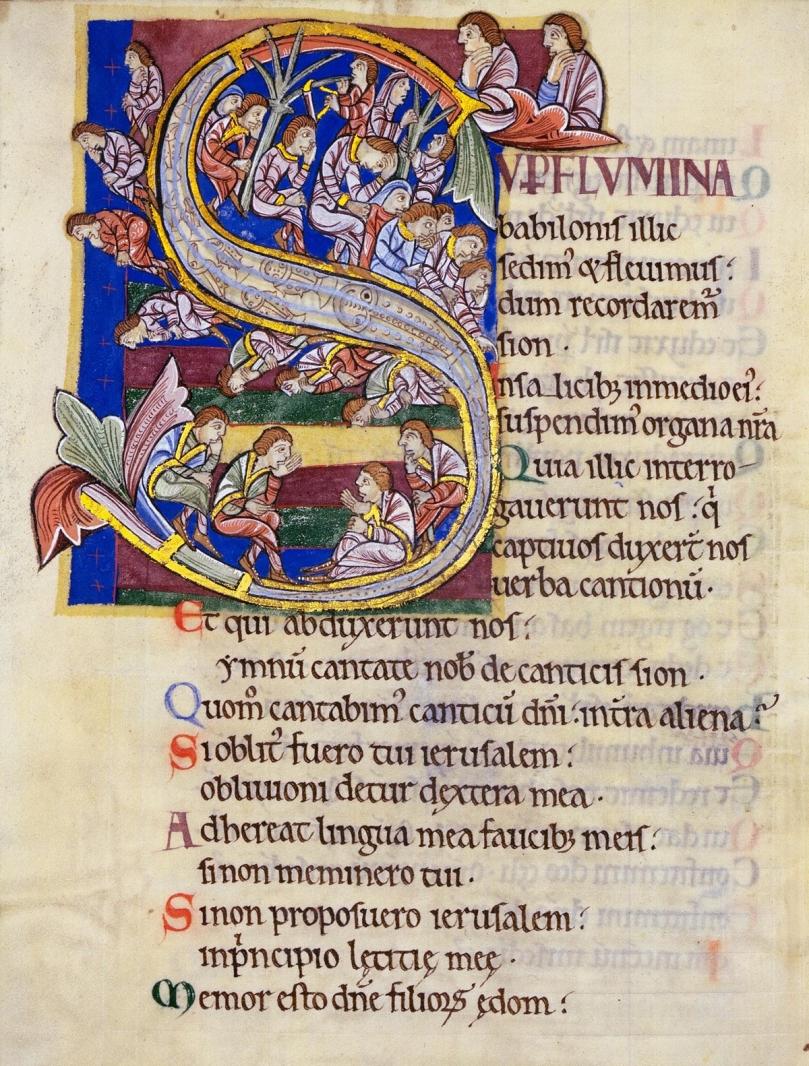 St Alban's Psalter - Psalm 136.jpg