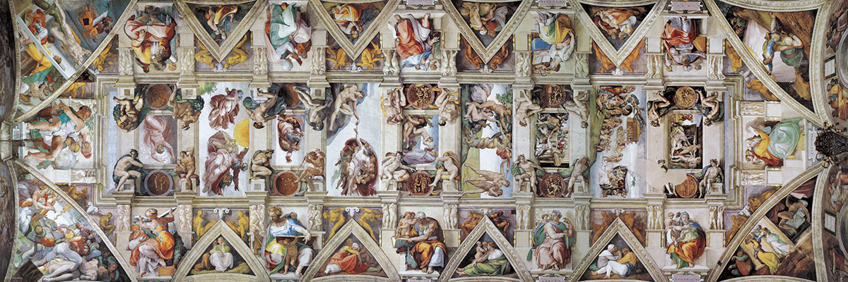 Ceiling of the Sistine Chapel 1