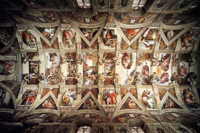 Ceiling of the Sistine Chapel 2