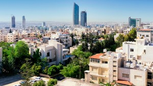 Amman city view, in Jordan