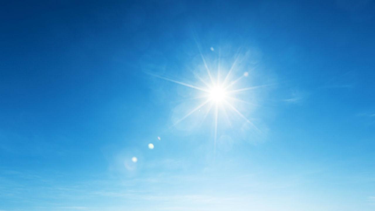 Blue sky sunshine