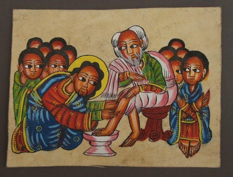Jesus washing disciples feet (Ethiopian)