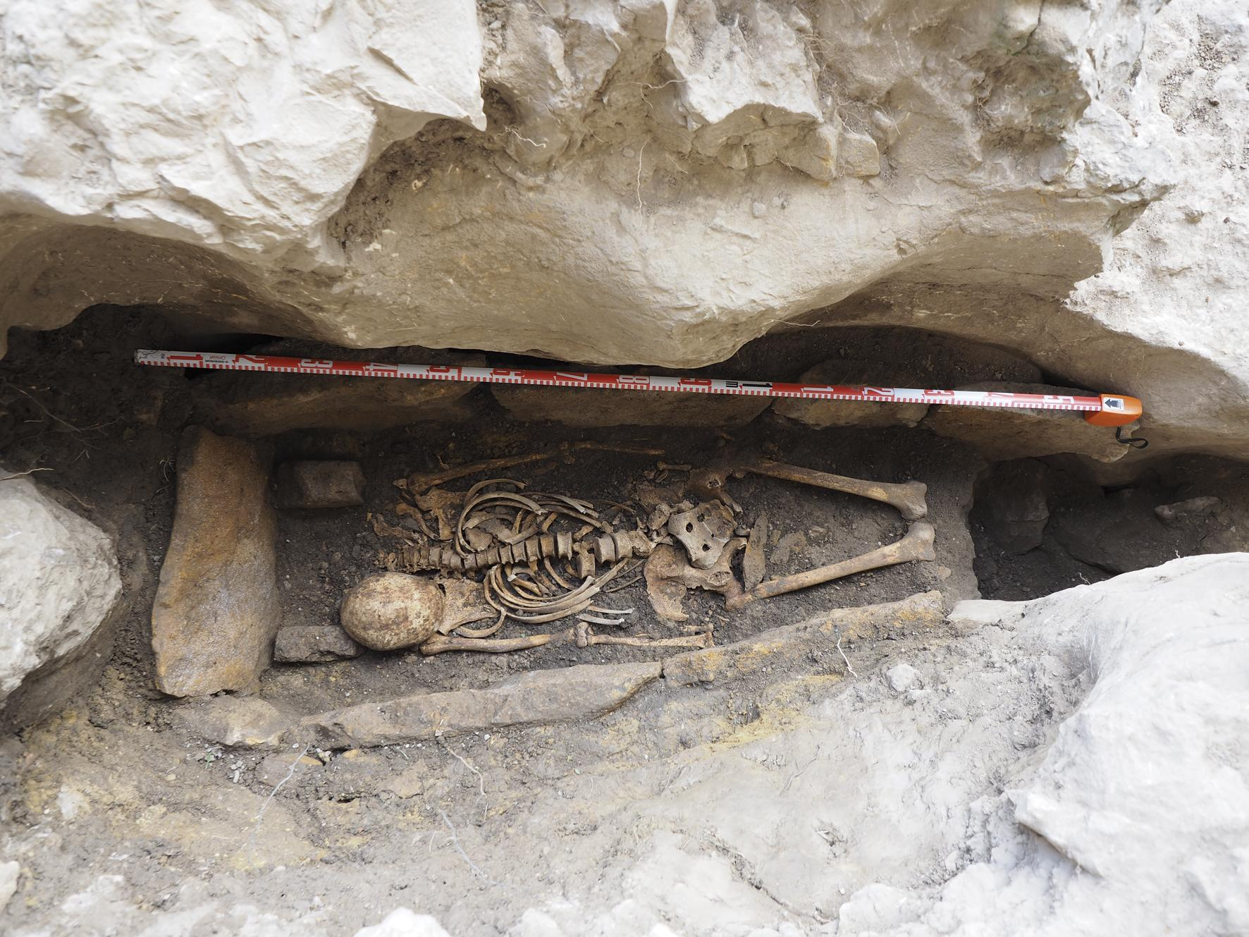 early Christian hermit grave